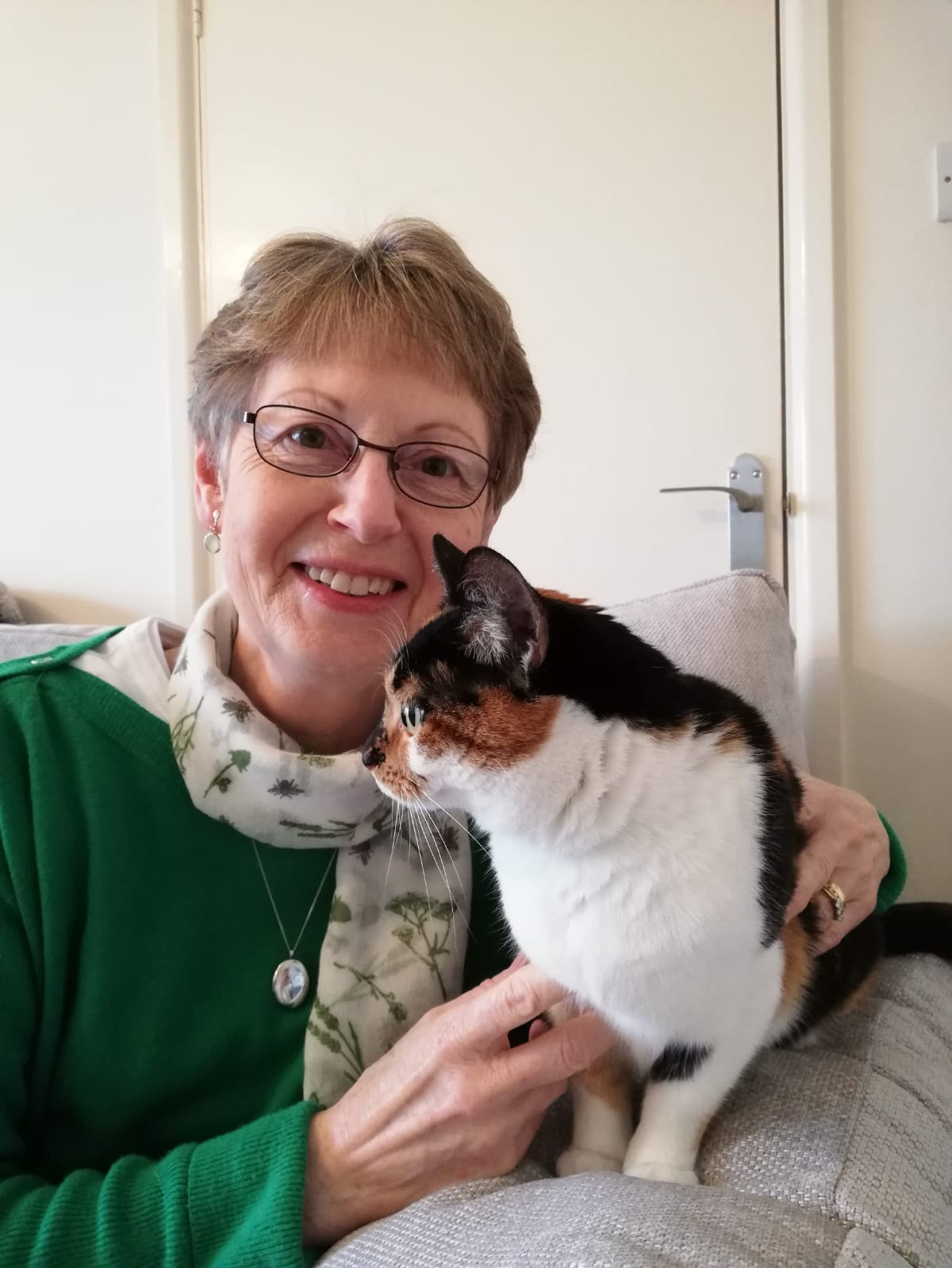 Sue Stirling (with Milly the cat) February 2020